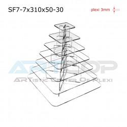 Fontanna KWADRAT 310x50 z 7 blatami wys. 34cm - model SF7