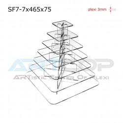 Fontanna KWADRAT 465x75 z 7 blatami wys. 50cm - model SF7