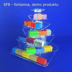 Fontanna KWADRAT z 7 blatami - model SF8, demo