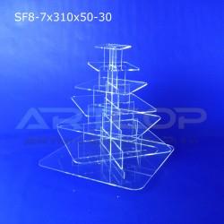 Fontanna KWADRAT 310x50 z 7 blatami wys. 34cm - model SF8