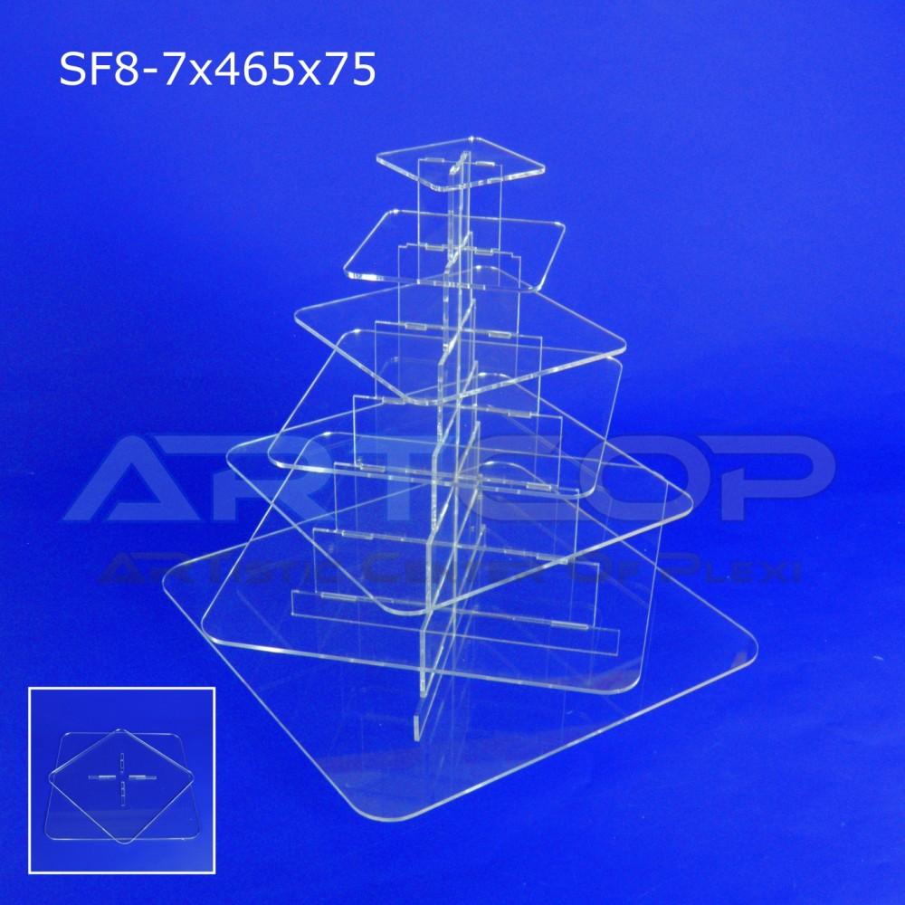 Fontanna KWADRAT 465x75 z 7 blatami wys. 50cm - model SF8