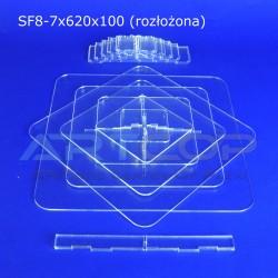 Fontanna KWADRAT 620x100 z 7 blatami wys. 67cm - model SF8