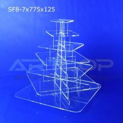 Fontanna KWADRAT 775x125 z 7 blatami wys. 84cm - model SF8