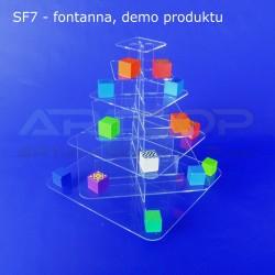 Fontanna KWADRAT z 7 blatami - model SF7, demo