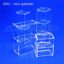 Gablotki Mini z plexi 3mm - demo