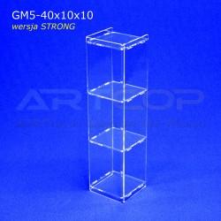 Gablotka Mini 40x10x10cm z plexi 5mm wersja STRONG