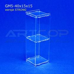 Gablotka Mini 40x15x15cm z plexi 5mm wersja STRONG
