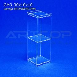 Gablotka Mini 30x10x10cm z plexi 3mm wersja EKONOMICZNA