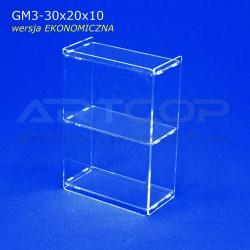 Gablotka Mini 30x20x10cm z plexi 3mm wersja EKONOMICZNA