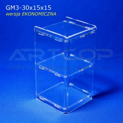 Gablotka Mini 30x15x15cm z plexi 3mm wersja EKONOMICZNA