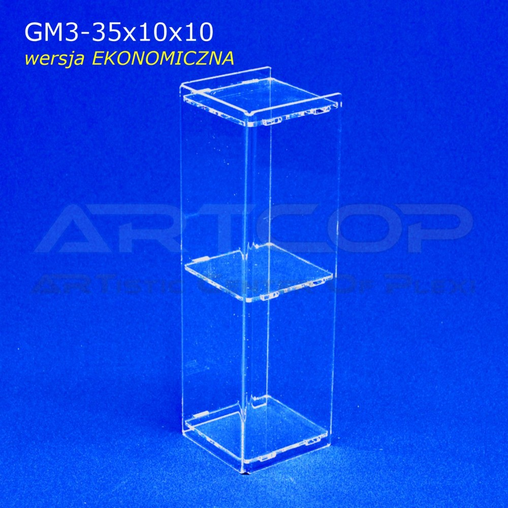 Gablotka Mini 35x10x10cm z plexi 3mm wersja EKONOMICZNA