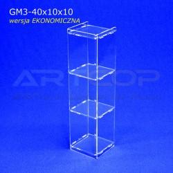 Gablotka Mini 40x10x10cm z plexi 3mm wersja EKONOMICZNA