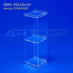 Gablotka Mini 35x10x10cm z plexi 4mm wersja STANDARD
