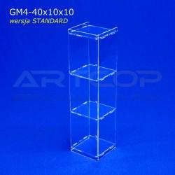Gablotka Mini 40x10x10cm z plexi 4mm wersja STANDARD