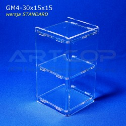 Gablotka Mini 30x15x15cm z plexi 4mm wersja STANDARD
