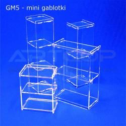 Gablotki Mini z plexi 5mm wersja STRONG - zestaw demo