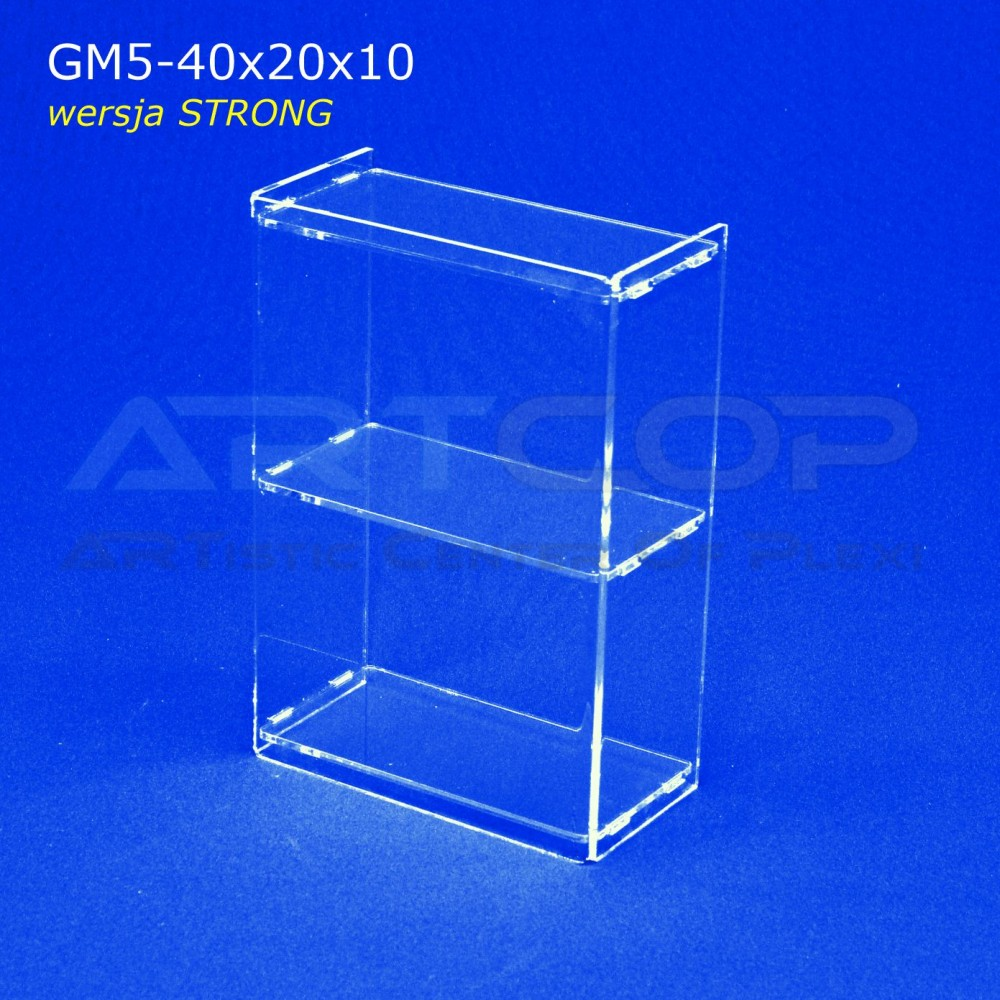 Gablotka Mini 40x10x10cm z plexi 5mm wersja STRONG