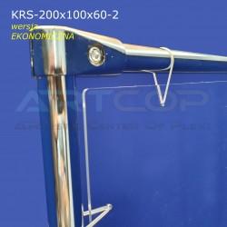 Osłona wolnostojąca 200x100cm, kurtyna ochronna, podłogowa - wersja EKO