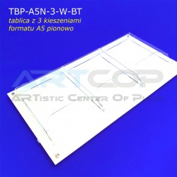 Tablica z kieszeniami prostymi na kartki formatu A5 x3