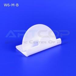 Wizytownik z plexi mlecznej W6-M-B