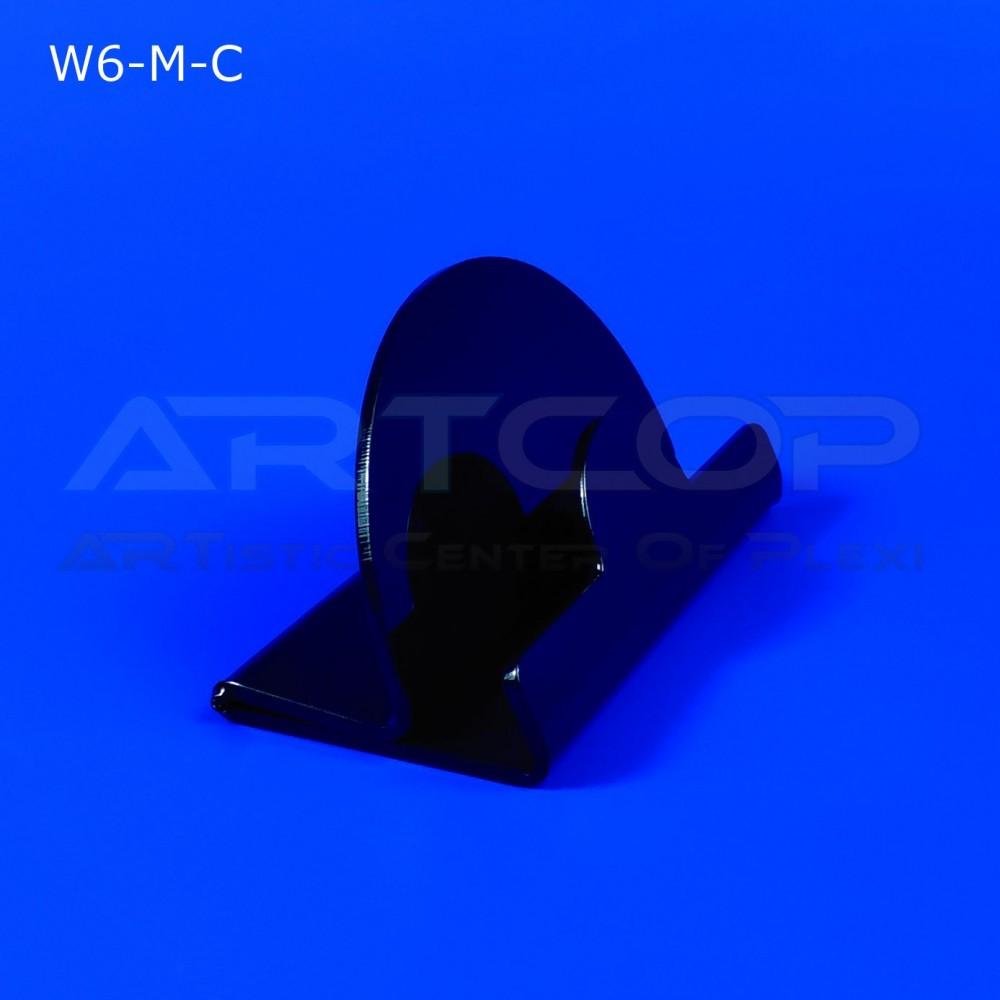 Wizytownik z czarnej plexi W6-M-C